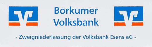 Volksbank - Sponsor TuS Borkum e.V.