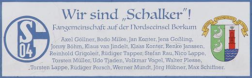 Schalke - Sponsor TuS Borkum e.V.