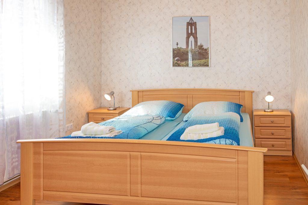 Ferienwohnung Mitten Drinn Schlafzimmer