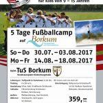 Fussballcamp 2017 TuS Borkum e.V.